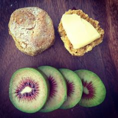 Fluffy pumpkin date scones with fragrant orange zest with a wodge of butter and one of those beautiful red fleshed kiwi fruit Date Scones, Food Kids, Afternoon Tea, Kids Meals, Real Food Recipes, Corner, Pumpkin, Snacks, Fruit