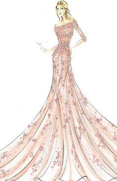 Aurora Sleeping Beauty Wedding Dress Design by Elie Saab