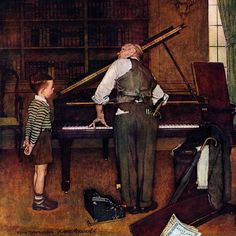 Marmont Hill Piano Tuner Norman Rockwell Painting Print on Canvas