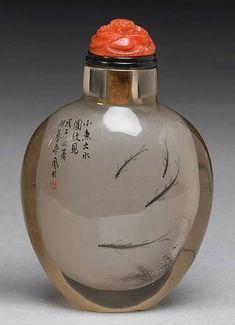 Su Fengyi (b. 1960) An inside-painted crystal snuff bottle