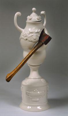Sévices par Laurent Craste, série de vases déformés - Journal du Design