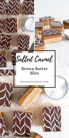 Caramel Recipes, Chocolate Recipes, Salted Caramel Slice, Butter Shortbread Cookies, Cookie Bars, Bar Cookies, Homemade Pastries, Chocolate Topping, Golden Syrup