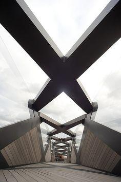 The Weave Bridge in Philadelphia is 145-foot-long pedestrian bridge on the University of Pennsylvania campus.