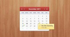15 Calendar PSD Freebies | lovelydsgn