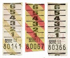 Vintage bus tickets!