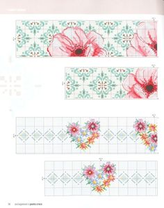 Cross Stitch Bookmarks, Cross Stitch Borders, Cross Stitch Flowers, Cross Stitch Charts, Cross Stitch Designs, Cross Stitching, Cross Stitch Patterns, Embroidery Patterns Free, Hand Embroidery