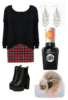 """""""Untitled #2137"""" by aiag ❤ liked on Polyvore featuring Filles à papa and Sally Hansen"""