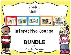 Coral's Corner has heard your feedback and is happy to present a 1st Grade Interactive Journal BUNDLE for McGraw Hill Wonders Unit 1!This 1st grade, Unit 1 (Weeks 1-5) highly INTERACTIVE journal contains over 35 pages of student activities aligned to the McGraw Hill Wonders series.
