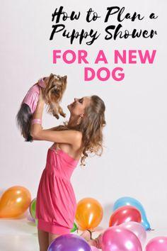 Plan a puppy shower for a new dog adoption #adoptdontshop #puppyparty #partyplanning
