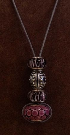 PANDORA Necklace. A Great Way to Use One of the Large Murano Without it Being Overpowering.