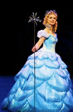 Gina Beck - Glinda (West End). She also played Christine in Phantom.