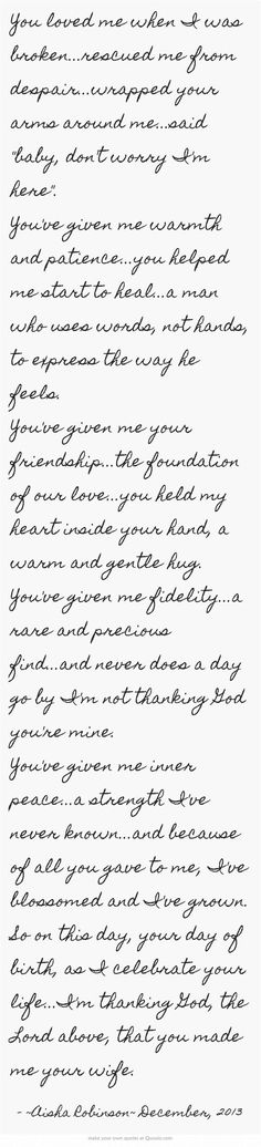 A poem for my husband on his birthday....he deserves so much more...: