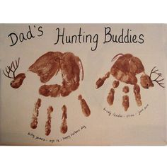 Dad's Hunting Buddies Handprint Craft - this would make a great Father's Day card! Description from pinterest.com. I searched for this on bing.com/images