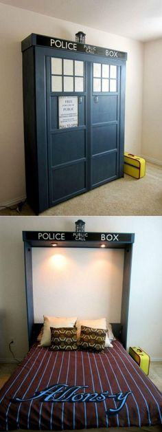 :) I need this!! And the TARDIS door would be awesome for a bedroom door