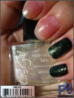 Firefly by Jesse's Girl: Iridescent white polish with blue & gold shimmer. New $3.00