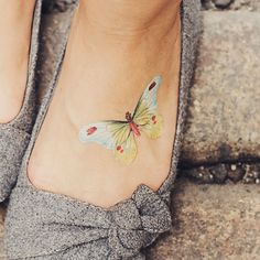 Tattly Temporary Butterfly Tattoo design by Fiona Richards