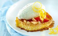 Søde sprøde pastaringe med citroncreme Sprødt og blødt til ganen med et tvist af citrus.