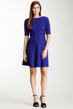 Crew Neck Textured Dress on HauteLook