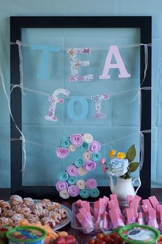 Tea for Two second birthday party decorations.