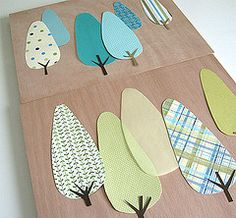 In progress , originally uploaded by Rachael H . a paper tree forrest! Applique Patterns, Applique Quilts, Quilt Patterns, Pach Aplique, Sewing Crafts, Sewing Projects, Art For Kids, Crafts For Kids, Fabric Cards