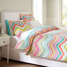 zig 'n' zag duvet. what a beautiful color combo!