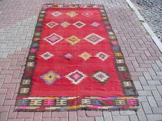 "Turkish Handwoven Kilim Rug Natural Wool 61 8"" x 132"" | eBay"