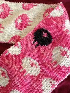 Free sheep scarf pattern