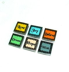 Fridge magnets  Set of six magnets polymer clay by sigalsart