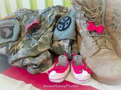 military, baby room pregnancy - maternity photos, Daddy's girl army gear