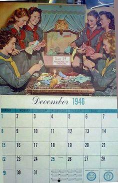 1946 Girl Scout Calendar