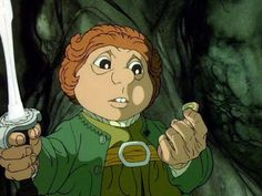 Thanks to the soon-to-be-released Hobbit movie, images of Martin Freeman as Bilbo may dominate our consciousness. But Bilbo has had many different incarnations! Tolkien Hobbit, Hobbit Art, The Hobbit Cartoon, The Hobbit 1977, Bilbo Baggins, Thorin Oakenshield, The Last Unicorn, Animation Film, Stop Motion