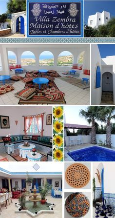 Villa Zembra guest house is located on the tip of the peninsula of Cap Bon in Tunisia. Address Rue El Haouaria, Al Haouaria. Tel: 72269860. This is a great place to escape from Tunis for a weekend. This newly built villa has breathtaking views out to sea. Many places to sit and relax with lovely cool breezes. The food is excellent and host Daniel makes you feel very welcome. Katrina©B