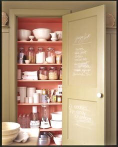 Restock your pantry and discard any expired items.  Especially spices.  Replace other pantry supplies as needed and refill shakers and containers.