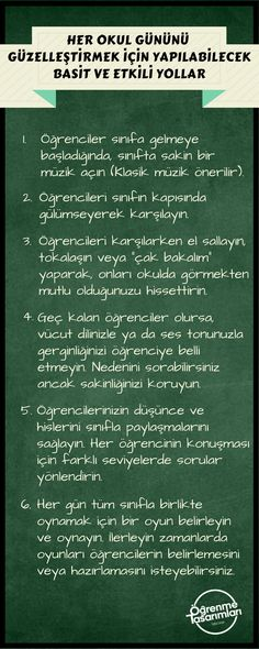 Her Okul Gününü Güzelleştirmek İçin Yapılabilecek Basit ve Etkili Yollar | Öğrenme Tasarımları Primary School, Special Education, Psychology, Drama, Classroom, Teacher, Graphic Design, Designs, First Day Of School