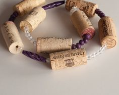 8 Foot Wine Cork Garland Wedding Decor, Wedding Decoration