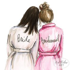 Bridesmaid PDF Dark Hair Bride and Brunette Bridesmaid, Will You Be My bridesmaid card PDF printable card Be My Bridesmaid Cards, Will You Be My Bridesmaid, Brides And Bridesmaids, Best Friend Drawings, Girly Drawings, Azul Tiffany, Dibujos Cute, Pretty Wallpapers, Best Friends Forever