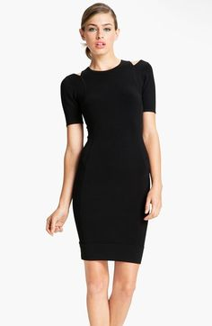 French Connection 'Dani' Cutout Crepe Sheath Dress available at #Nordstrom