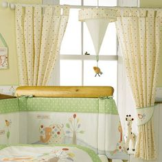 Jungle Fun Tab-Top Curtains and Tiebacks