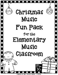 Are you needing some fun and exciting ways to engage your elementary music students during this holiday season?  Do you need a 5 minute time filler at the end of class?  These adorable worksheets are just the answer you are looking for.  This set of 6 different activities include various age appropriate lessons to test students' knowledge of Christmas carols, facts, etc.