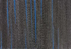 The movement of running water was created using white ascending dot work and blue streaks to represent a waterfallin this abstract contemporary work of Aboriginal art.