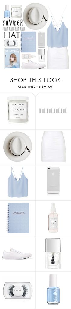 """top it off: summer hats"" by fernweeh on Polyvore featuring moda, Herbivore, Maison Margiela, Calypso Private Label, Topshop, MANGO, Converse, Lipsy, MAC Cosmetics i Essie"