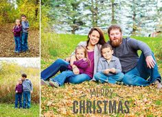 Like the colors! Cute Christmas Card :)!    Outdoor Detroit Lakes Family Photography   Christmas Cards