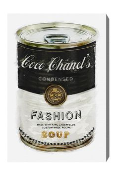 'Coco Chanel's Condensed Fashion Soup', Pop Art, Collage Art, unknown artist.