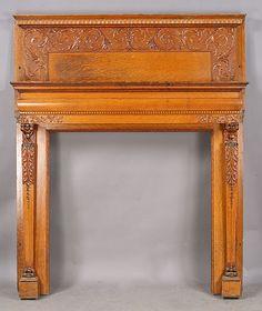 403-antique-carved-lion-fireplace-mantle.jpg (504×600)