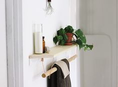 DIY shelf and hanger, from The Merrythought