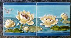 Jugendstil Fliese art nouveau tile Tegel Saargemünd Seerose top sensationell rar | Antiquitäten & Kunst, Porzellan & Keramik, Keramik | eBay!