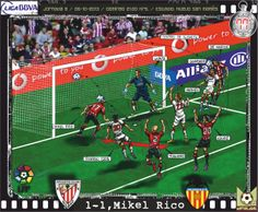 Athletic Club, 1 - Valencia CF, 1 - Mikel Rico, 1-1, min.77'