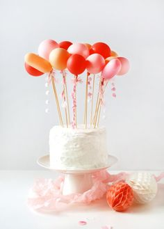 DIY balloon cake topper