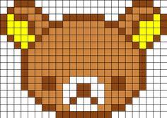 Rilakkuma Perler Bead Pattern | Bead Sprites | Characters Fuse Bead Patterns