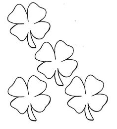 pictures four leaf clover coloring pages easter saint patrick s